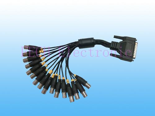 Monitor Cable  DB25 M / 16*BNC Jack