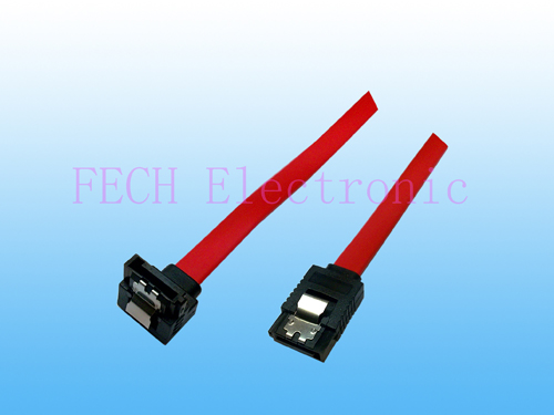 SATA 150 F/F  W/Lock  Right Angle