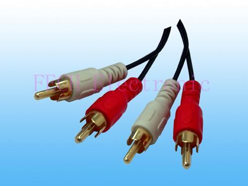 2*RCA Plug TO 2*RCA Plug