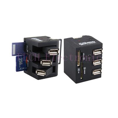USB 2.0 HUB 3Port + Card Reader
