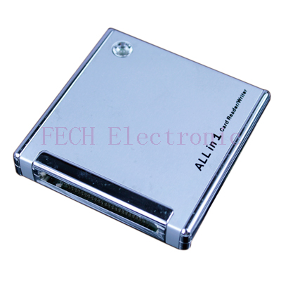 USB 2.0 All in 1 Card Reader Magnalium alloy cover
