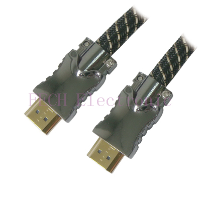 HDMI A-M TO A-M High Speed HDMI Cable with Ethernet(Ver.1.4) Metal Housing (different colors are available)