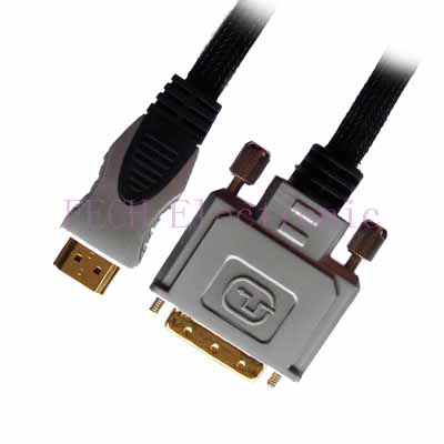 HDMI A Male TO DVI(18+1)Male