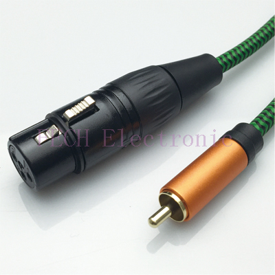 FV1172 XLR 3P Female to RCA Male Microphone Cable