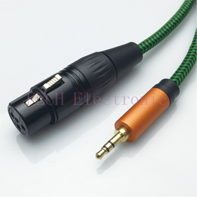 FV1372 XLR 3P Female to 3.5mm TRS Stereo Male Microphone Cable